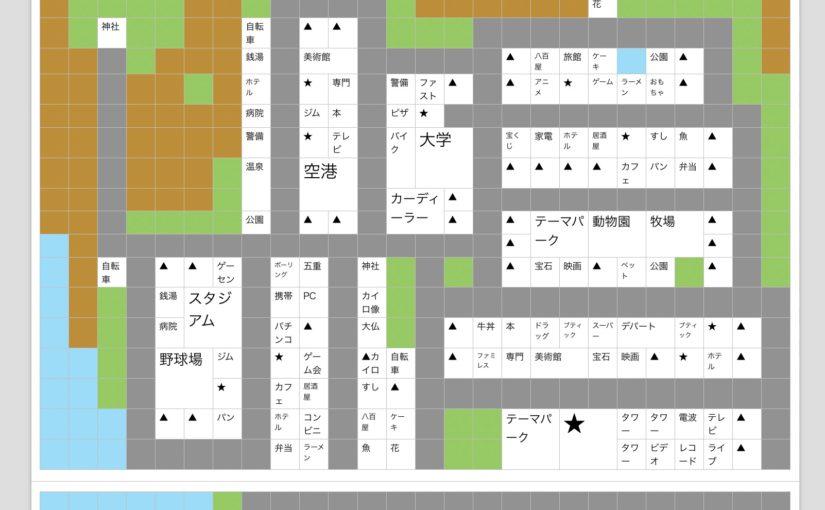 【財閥タウンズV攻略】ほがらかシティ配置マップ作ってみましたo(^-^)o